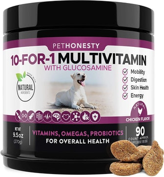 PetHonesty Store 10 In 1 Dog Multivitamin With Glucosamine (90 Count)