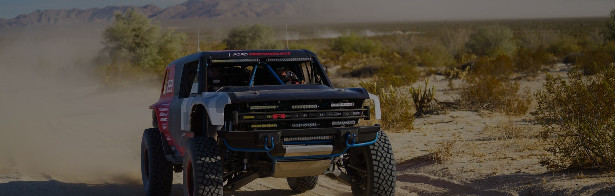Ford Bronco R racing truck.