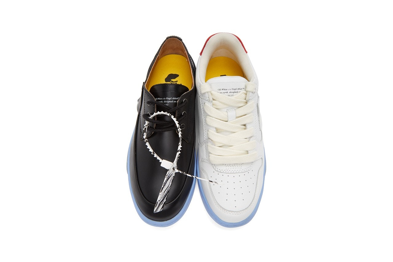 Off-White's mismatched shoes are the