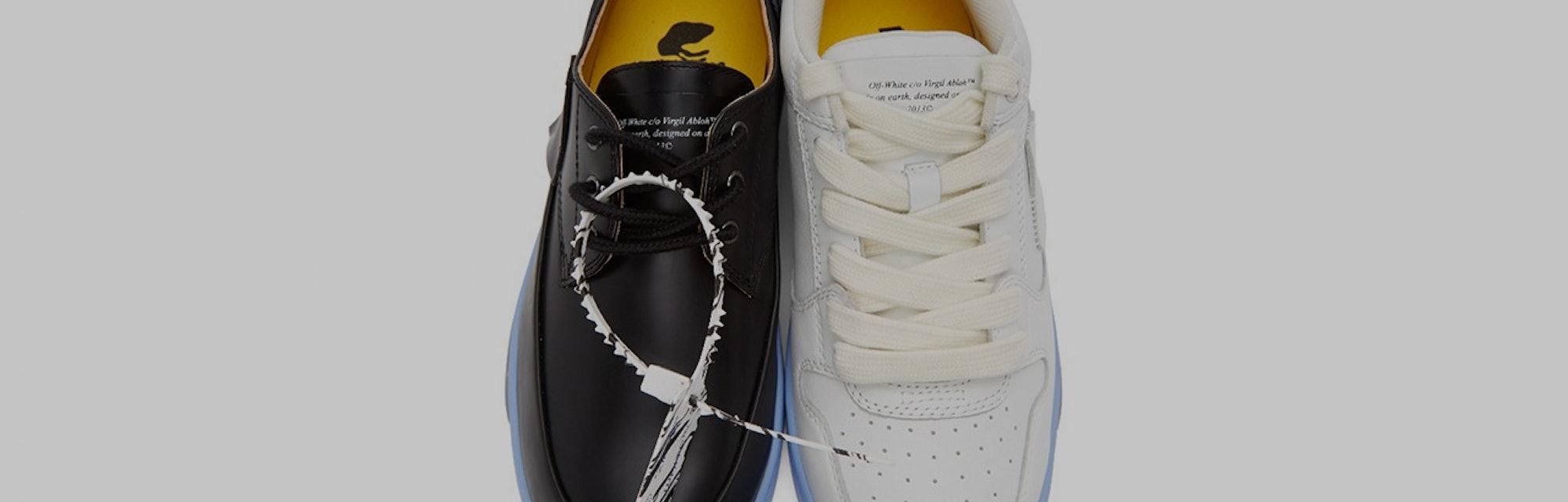Off-White Black and White Half Half Sneakers