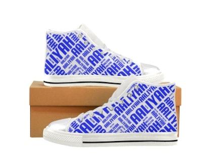 High Top Canvas Custom Name Sneakers