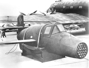 The Ba 349, captured by American soldiers in 1945.