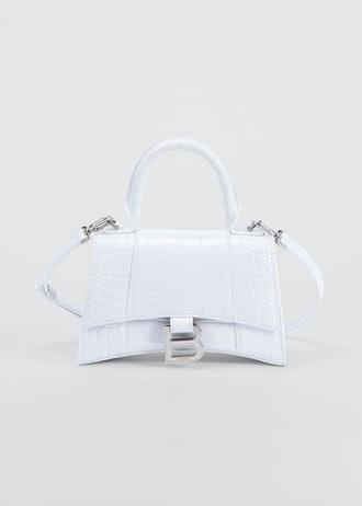 Hour XS Crocodile-Embossed Top-Handle Bag