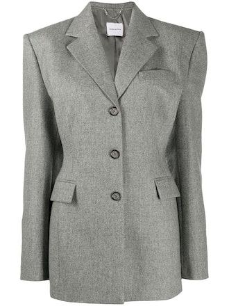 Tie back fine knit blazer