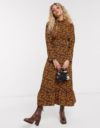 Floral Print Midi Dress