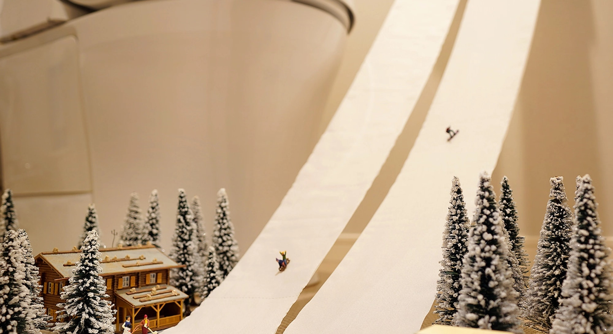 Tatsuya Tanaka makes miniature worlds out of everyday objects and human figurines.