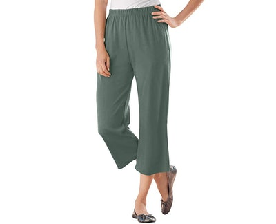Woman Within Plus Size 7-Day Knit Capri Pants