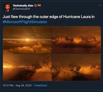 Microsoft Flight Simulator Twitter Hurricane Laura photos 2