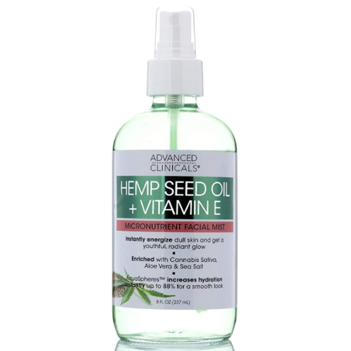 Advanced Clinicals Store Hemp + Vitamin E Face Mist