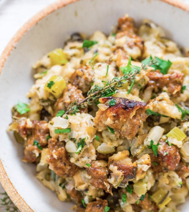 Slow Cooker Sausage Stuffing back to school recipe