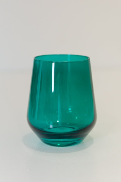 Estelle Colored Wine Stemless — Set of 6 (Emerald Green)