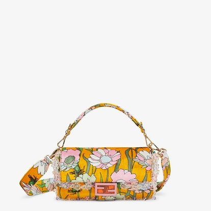 Baguette Bag in multicolour chenille