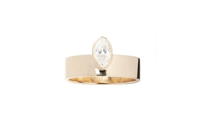 Vertical Marquise Monolith Ring