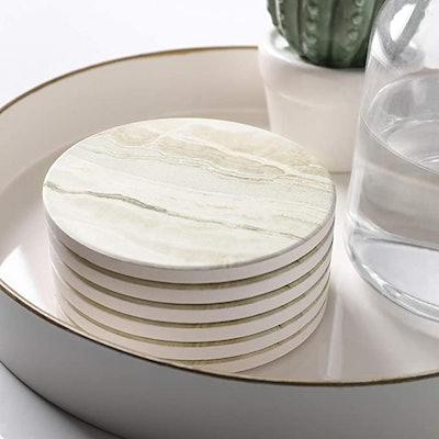 LIFVER Marble Drink Coasters (Set of 6)