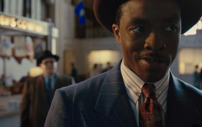 Chadwick Boseman as Thurgood Marshall in Marshall, streaming Sept. 5.