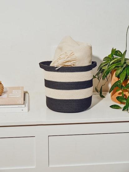 Striped Storage Basket