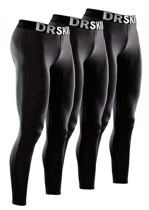 DRSKIN Men's Compression Pants (3-Pack)