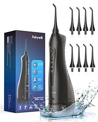 Fairywill 300ML Cordless Portable Water Pick Teeth Cleaner