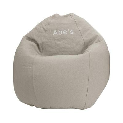 Hemp Bean Bag Chair in Small/Kid Size, Natural, BeanProductsInc
