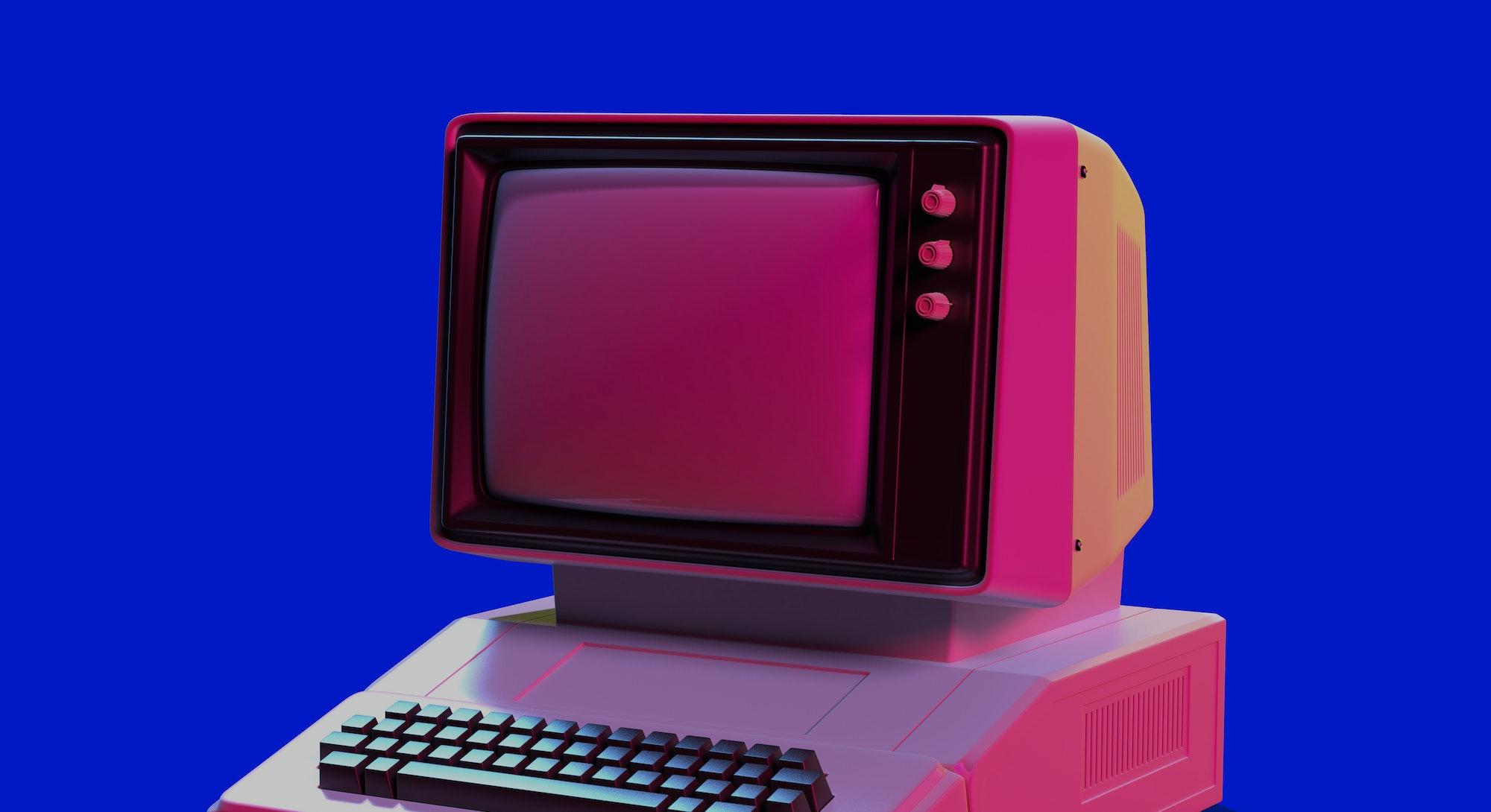 Retro 80s-style computer.