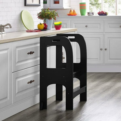 Citronelle Kids on the Rise Step Stool in Espresso