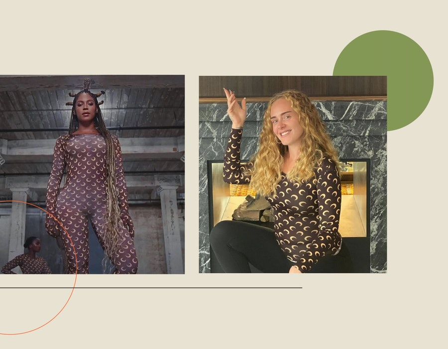 Beyonce and Adele in Marine Serre Bodysuits