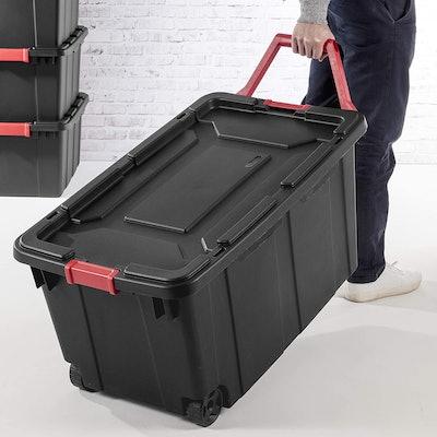 Sterilite 40 Gallon Wheeled Industrial Tote (2-Pack)