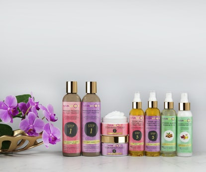 Moroccan Rhassoul 5-In-1 Clay Treatment and more from the haircare brand Naturalicious.