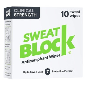 SweatBlock Clinical Strength Antiperspirant Wipes (10-Pack)