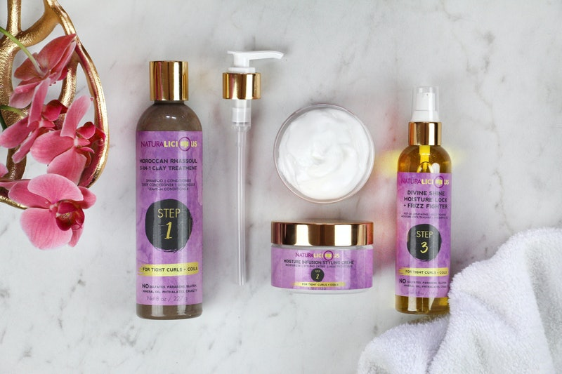 Multiple hair products from the haircare brand Naturalicious.