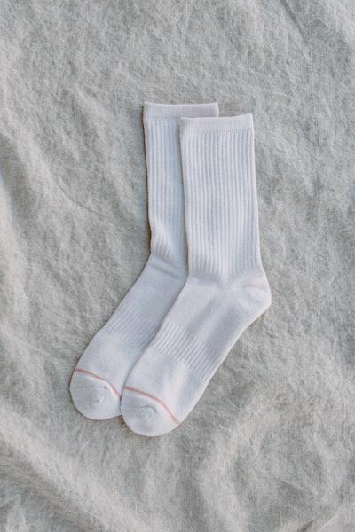 White Crew Sock