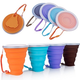 ME.FAN Silicone Collapsible Travel Cup (4-Pack)