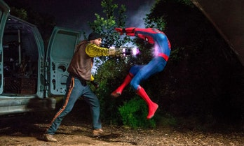 spider-man homecoming shocker punch