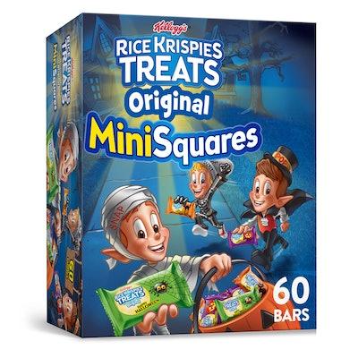 Kellogg's Rice Krispies Treats Mini-Squares, Crispy Marshmallow Squares, Original, 60 Ct, 23.2 Oz