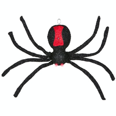 Way to Celebrate Halloween Black Sound and Motion Activated Dropping Spider Decoration