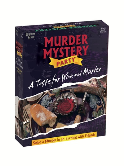 University Games A Taste For Wine & Murder Murder Mystery Party Game