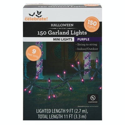 Way To Celebrate Halloween Purple Garland Lights