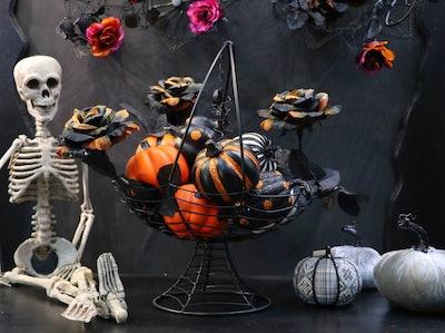 Way to Celebrate Halloween Multicolor Glitter Pumpkins Decoration, Set of 12