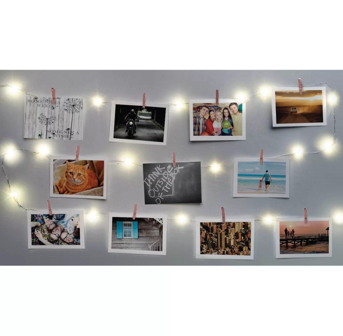 Merkury Innovations Chrome Firefly Mini Clip LED String Lights - Rose Gold