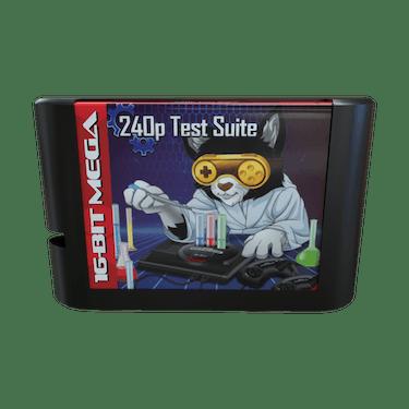 A 240p Test Suite cartridge for the Sega Genesis.
