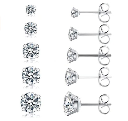 Wssxc Store Stud Earring Set (5-Pack)