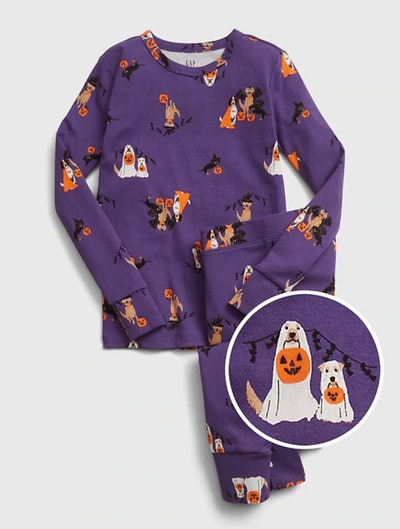 Kids Halloween Graphic PJ Set In Picasso Lily