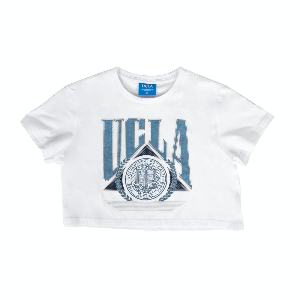 UCLA VINTAGE PUFF CROPPED TEE WHITE