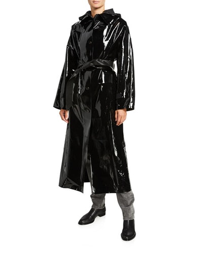 Maxi Glossy Lacquer Raincoat