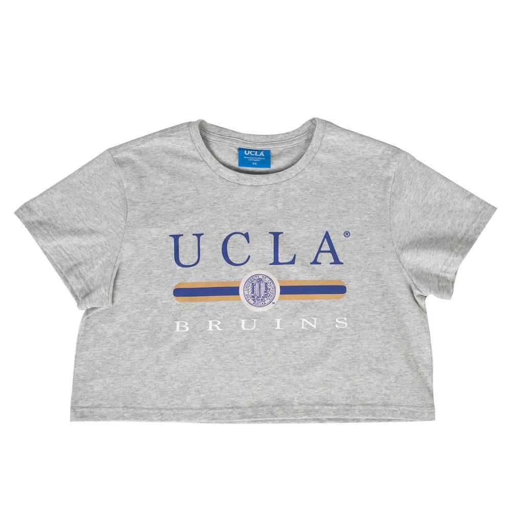 UCLA VINTAGE PUFF CROPPED TEE GREY