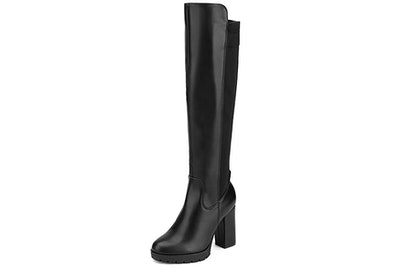 DREAM PAIRS Knee High Chunky Heel Stretch Boots