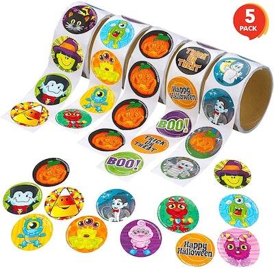 5 Rolls Halloween Stickers