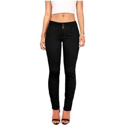 Wax Mid Rise Skinny Jeans
