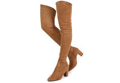 N.N.G Suede Over The Knee Block Heel Boots