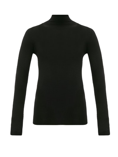 Karen oll-neck merino-wool sweater